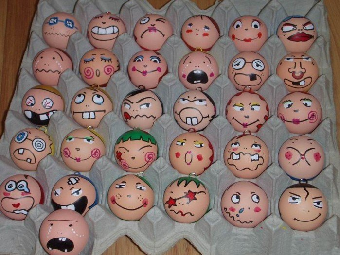 Eggs With Faces. egg face blog
